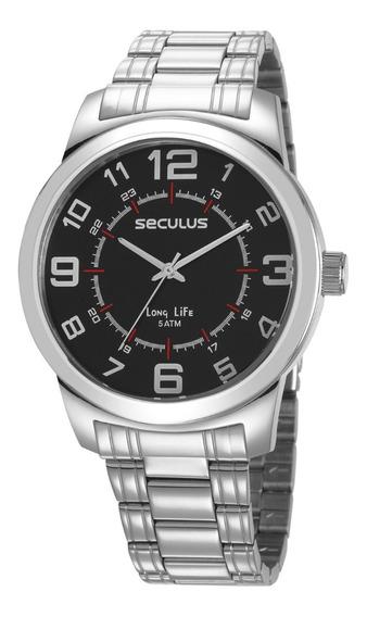 Relógio Seculus Masculino Analógico Prata 23641g0svna2