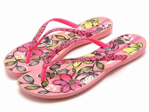 Ojotas Mujer Ipanema Wave Floreal (rosa/rosa) 6 Cuotas S/i