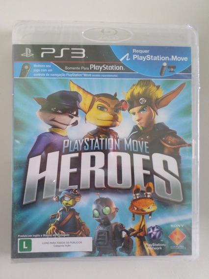 Playstation Move Heroes Ps3 Mídia Física Novo E Lacrado