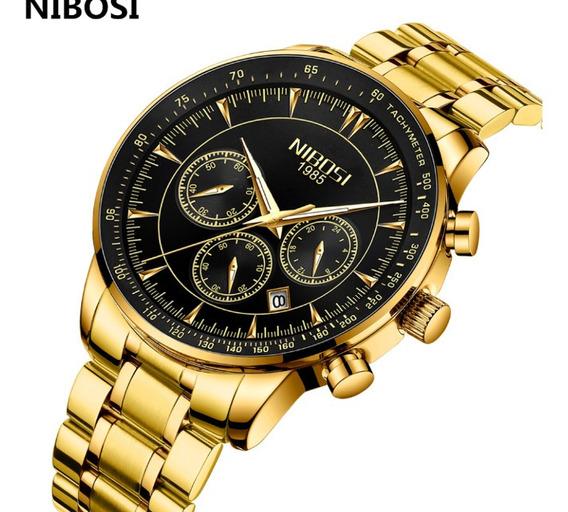 Relógio Nibosi Original Big Dial Funcional Show !!!