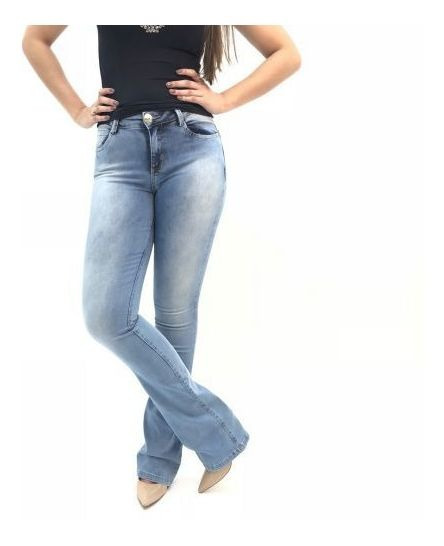 Calça Jeans The Toccs Jeans Claro Boot Cut Feminino