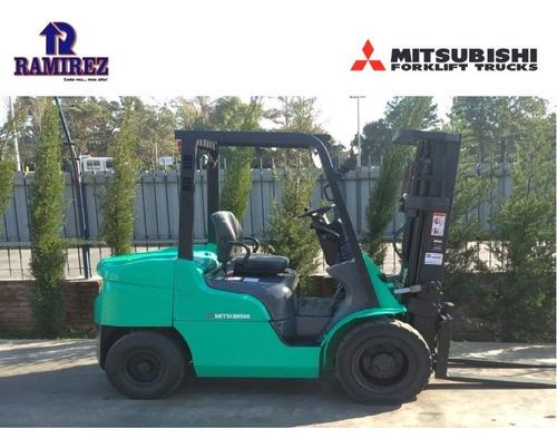 Autoelevador Montacarga Usado Marca Mitsubishi 3000kg Diesel