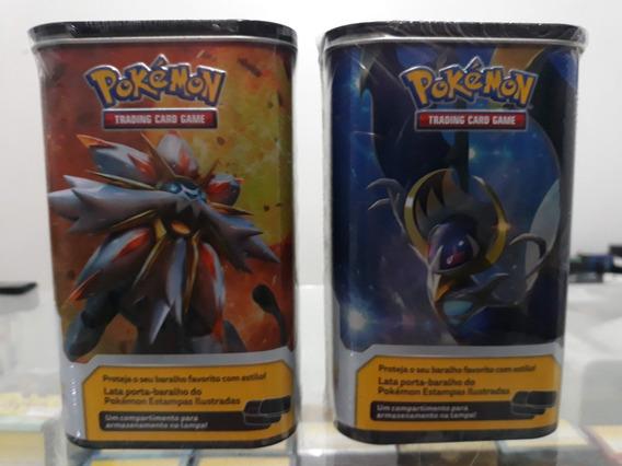 2 Porta-baralho Pokémon Estampas Ilustradas Lunala, Solgaleo
