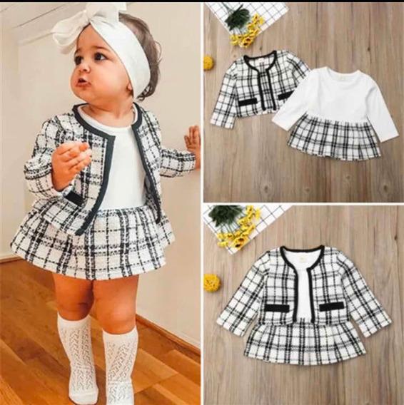 Conjunto Vestido E Casaco Bebê