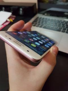 Samsung Galaxy J7 Prime Rosa Usado Vidro Quebrado