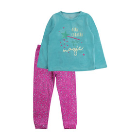 Pijama Kids Niña Plush Magic Menta Ficcus