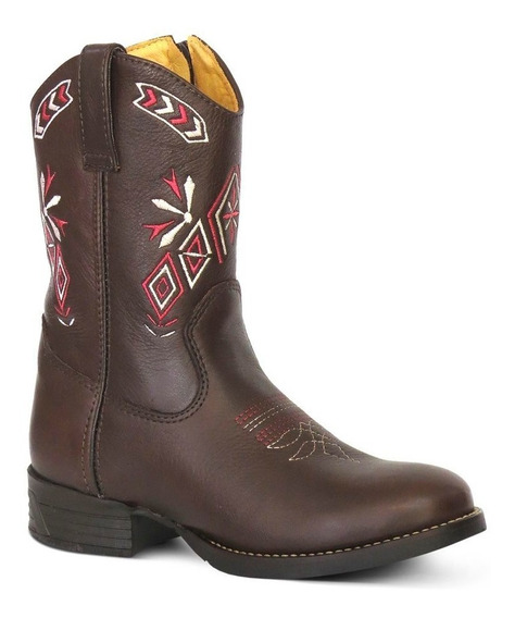 Bota Country Texana Infant Couro Floater Silverado Chocolate