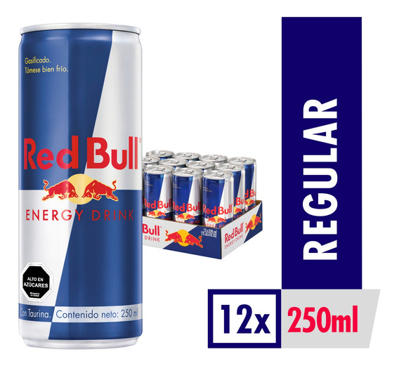 Bebida Energetica Red Bull Regular 12 Latas De 250ml