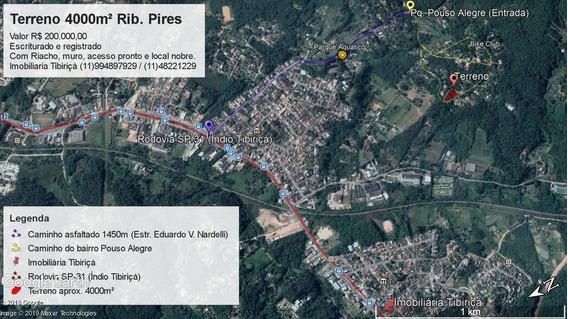 Terreno Aprox. 4000m2 Escritura Reg, Rio, Muro, Prox Centro