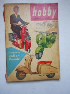 Revista Hobby - Mar/1955 - Automóveis / Aviação - Alemanha