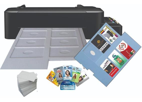 Impressora De Cartão Pvc Crachá Inkjet Epson Bandeja Com 06