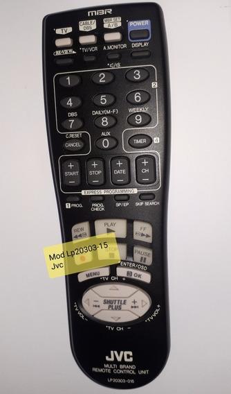 Controle Remoto Jvc Original Tv Vcr Mod Mod Lp20303-15Jvc