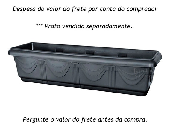 Vaso Jardineira Floreira Horta Verdura Tempero 80cm - 4 Und