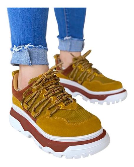 Tênis Feminino Farm Amarelo Chunky Sneaker Plataforma - B M