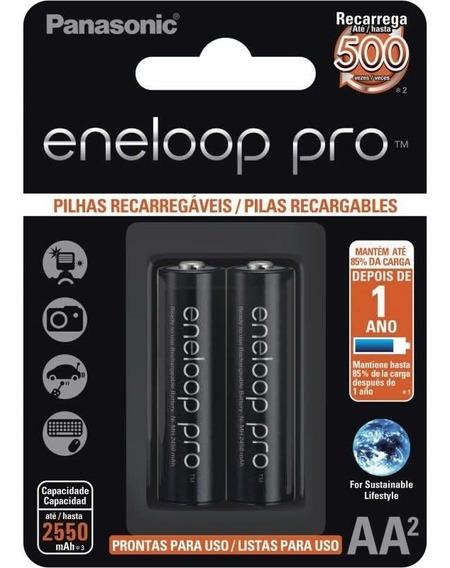 Pilha Panasonic Recarregavel Enelop Pro Aa Bk-3hcde/2bb