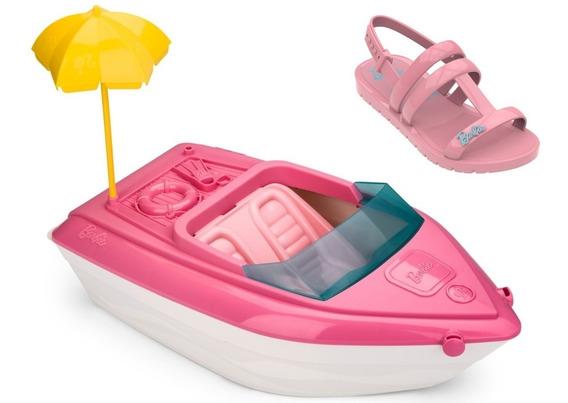 Sandália Infantil Barbie 22002 + Brinde Iate - Grendene Kids