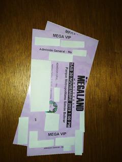 Boletas Megaland Vip- Bogotá 30 Noviembre - 1:00pm