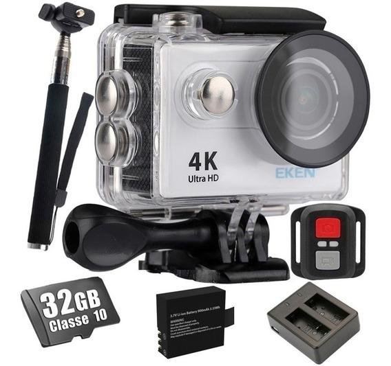 Camera Eken H9r Original Bastão+ 32gb+ Carregador+ Bateria