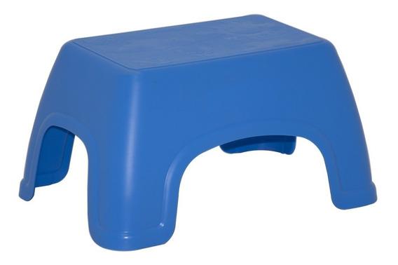 Banco Pequeno De Plástico Azul Basic Catty Tramontina