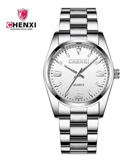 Relógio De Pulso Quartz Chenxi Prata