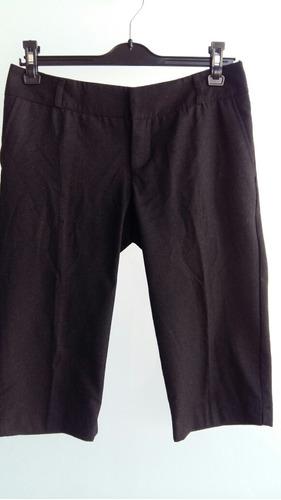 Pantalon Zara Mujer De Vestir Bermudas Sastre Traje Outlet
