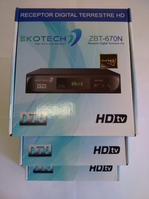 Kit 3 Unidades Conversor Tv Digital Ekotech Zbt 650n