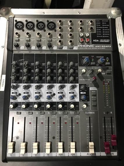 Mesa De Som Phonic Am1207 Fx
