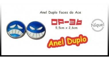 Colar Anel Duplo Faces Do Ace (onepiece)