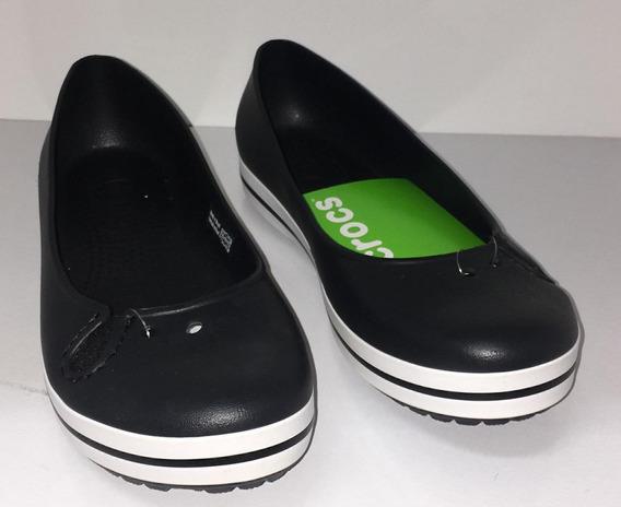 Sapato Fem. Crocs Crocband Flat Black X11072-001