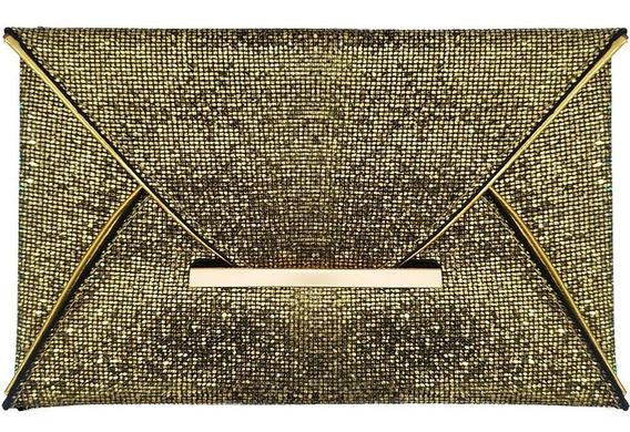 Bolsa De Mano Para Mujer Color Dorada M2976