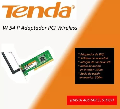 Placa Pci Adaptador Wifi Tenda W54p - Edukayaks