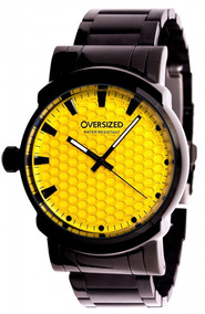 Relógio Masculino Oversized Knockout 45mm Dark-yellow