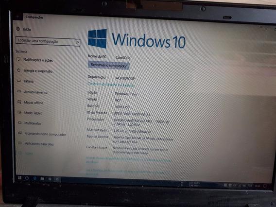 600,00 Com Desconto Notebook Positivo Sim + Intel Core 2 Duo