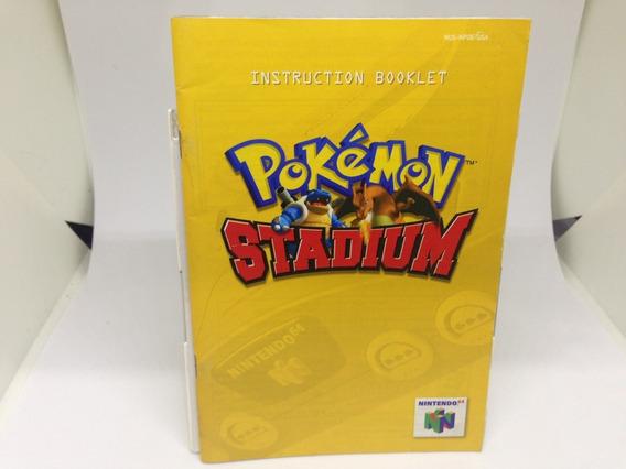 Apenas O Manual - Pokemon Stadium - Nintendo 64 - Ingles