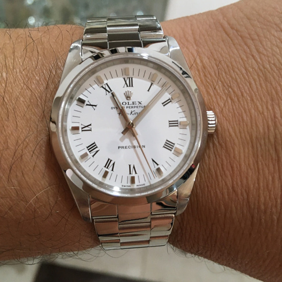 Rolex Oyster Perpetual Air King Ano 2006 Todo Completo Omega