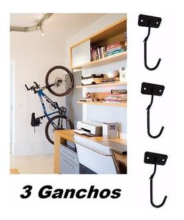 Gancho Pendurar Bicicleta Parede Suporte Bike - 3 Unidades