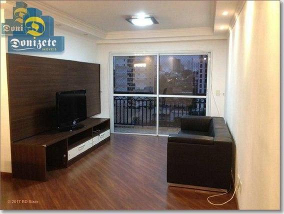 Apartamento Com 3 Dormitórios À Venda, 93 M² Por R$ 540.000,00 - Vila Bastos - Santo André/sp - Ap6398
