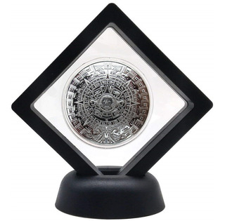 Moneda Calendario Azteca Modelo Prophecy En Exhibidor 360!.