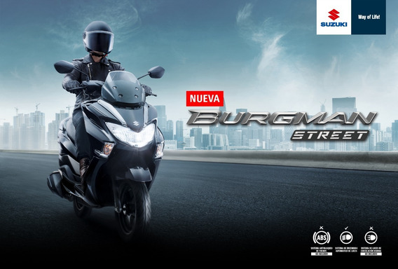 Suzuki Burgman 125cc 2019 - Financiable + Casco