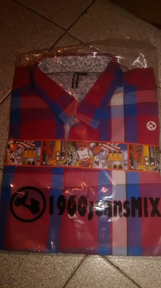 Camisa Mix Jeans Talle L