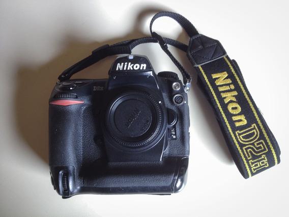 Camera Nikon D2h Na Caixa Com Todos Acessórios.