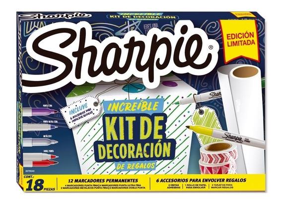 Pack Marcadores Sharpie Decoración 18 Piezas - Fibra - Arte