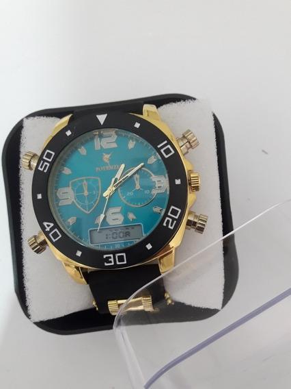 Relógio Masculino De Luxo+ Caixa Acrílica