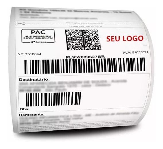 Kit 8 Rolos Etiquetas Termica Couche Mercado Envios 10x15cm