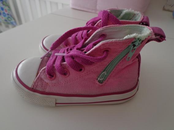 Zapatillas Nena Botitas Converse. Talle 22 -excelente Estado