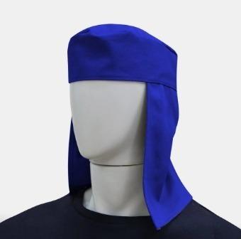 10 Toucas Soldador Azul De Brim Para Soldador Proteção Sol