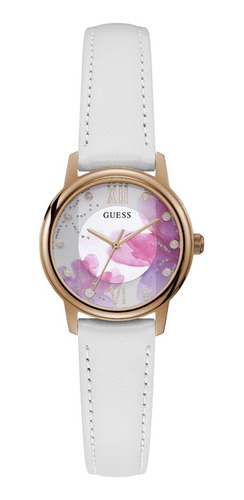 Reloj Para Mujer Guess Watercolor Color Blanco Gw0241l1