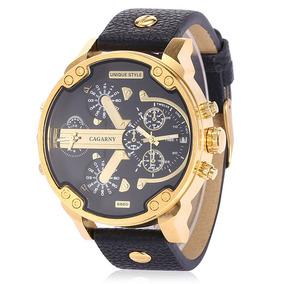 Reloj Pulsera Para Hombre Cagarny Big Dial Dual Movt