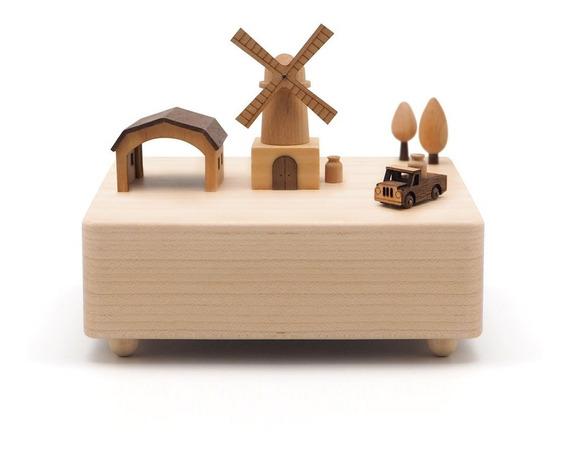 Caja Musical Amsterdam Gato Wooderful Life Music Box Madera
