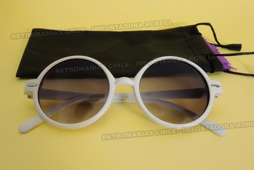 fde914691b Lentes Sol Redondos Blancos / Lennon Anteojos Retro Hipster